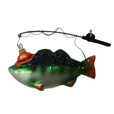 About this item - Fish And Fishing Pole Christmas Tree Ornament -... : Target