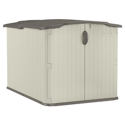 Resin Glidetop Storage Shed Soft Taupe - Suncast