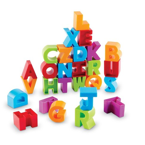 Learning Resources Letter Blocks Fine Motor Toy 36 Pieces Ages 18 Mos Target