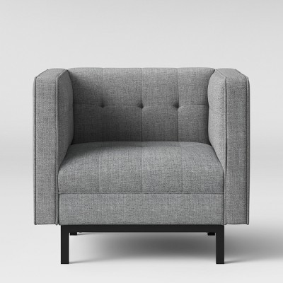 Cologne Tufted Track Arm Chair - Gray - Project 62™