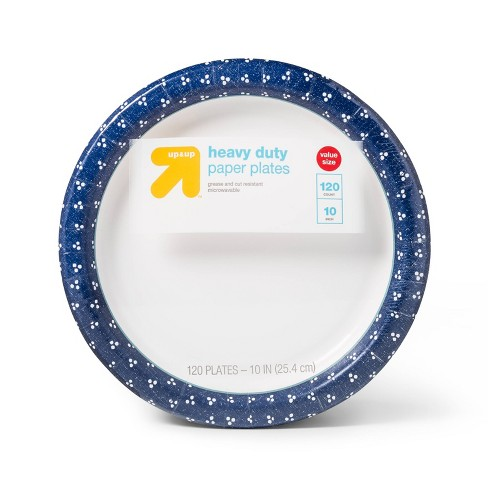 """Textured Dot Paper Plate 10"""" - 120ct - Up&Up™ - image 1 of 2"""