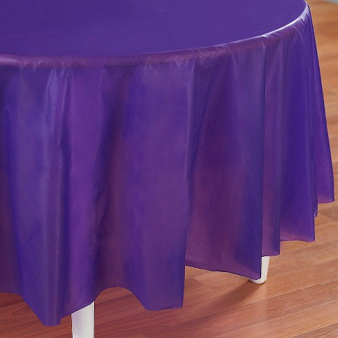 Purple Disposable Tablecloth - image 1 of 1