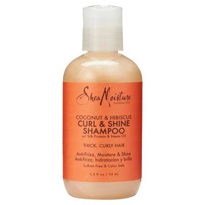 SheaMoisture Coconut & Hibiscus Curl & Shine Shampoo Trial Size - 3.2 fl oz