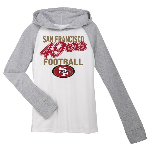 San Francisco 49ers Girls' Lightweight Hoodie Pullover - image 1 of 1