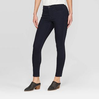 Women's High-Rise Skinny Jeans - Universal Thread™ Dark Blue 4