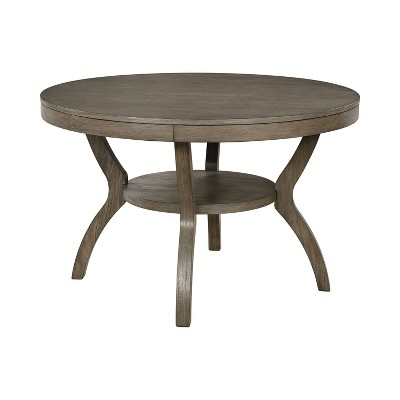 """48"""" Rawlins Round Dining Table Gray - HOMES: Inside + Out"""