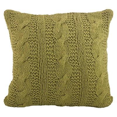 Cable Knit Design Throw Pillow Grass (20 x20 )Saro Lifestyle