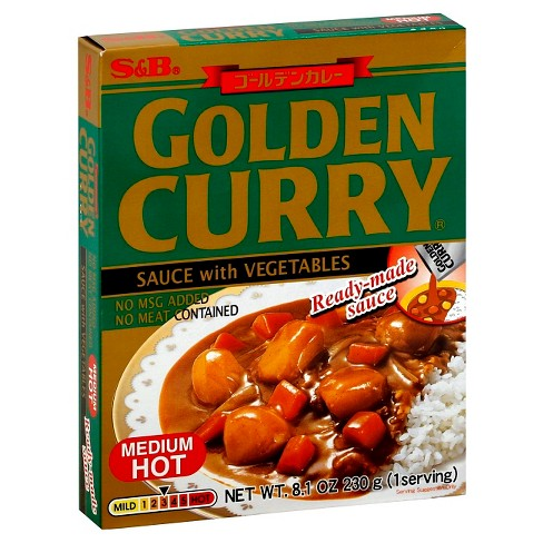 S&B Golden Curry Vegetables with Sauce Medium Hot 8.1 oz - image 1 of 1