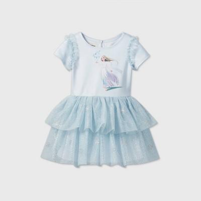 Toddler Girls' Pippa and Julie Disney Elsa Short Sleeve Tutu Dress - Blue