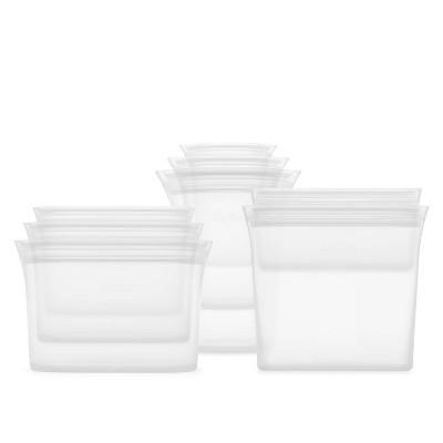 Zip Top Reusable 100% Platinum Silicone Container - Complete Set