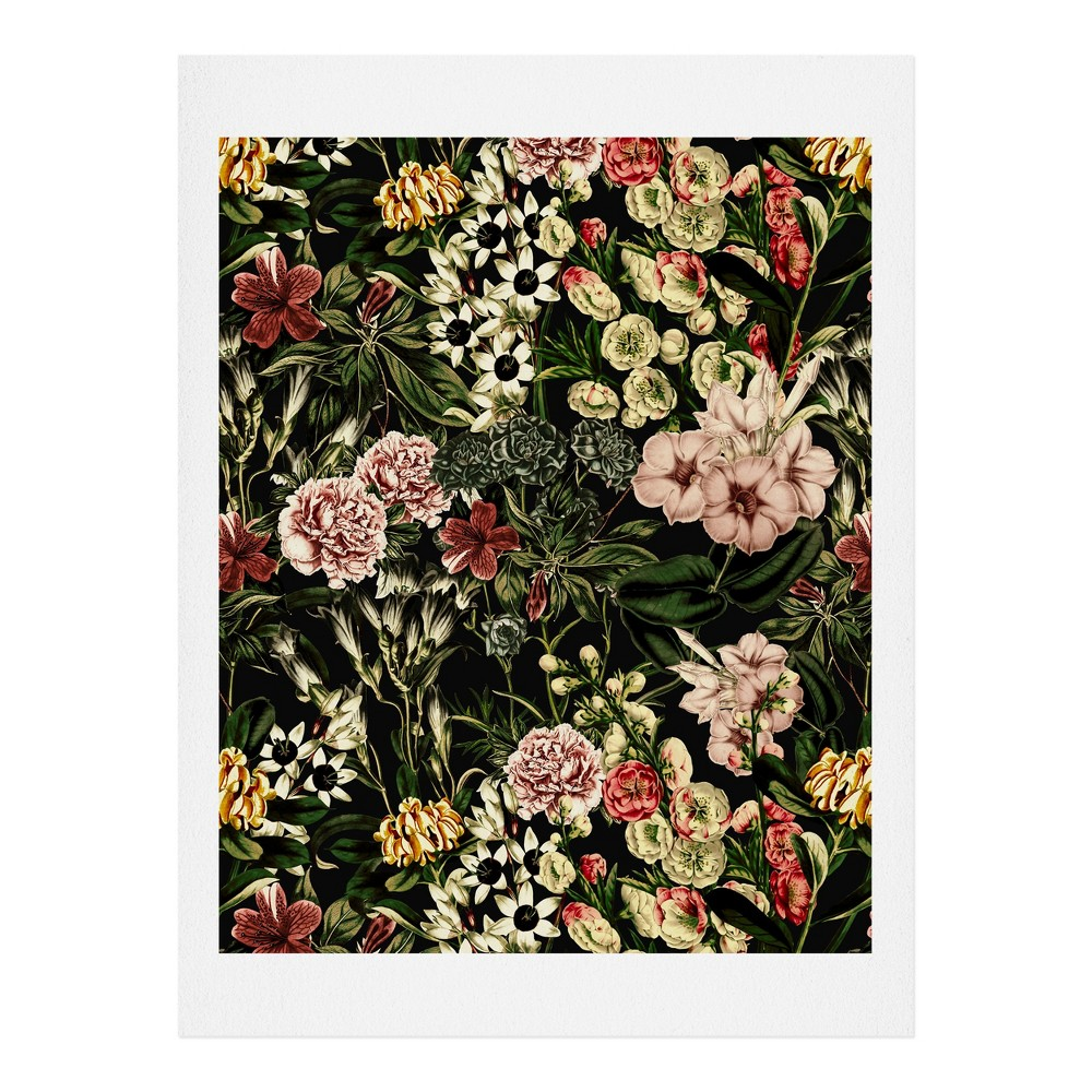 "Image of ""11""""x14"""" Marta Barragan Camarasa Dark Bloom Art Print Unframed Wall Poster Green - Deny Designs"""