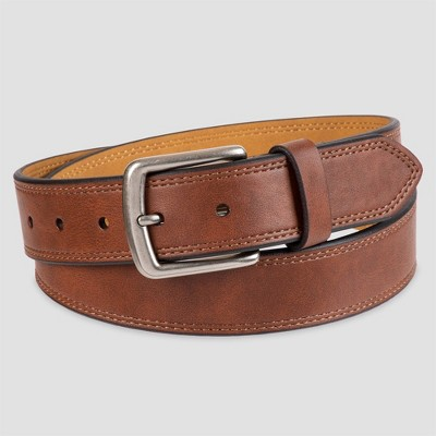 Men's 35mm Marled Double stitch Belt - Goodfellow & Co™ Tan