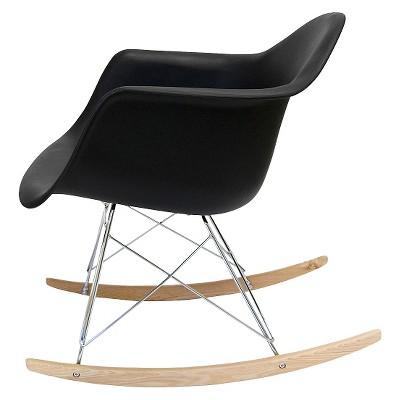 Dijon Rocker Dining Chair Plastic/Black - Aeon