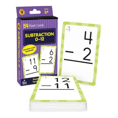 Subtraction 0 To 12 Flash Cards (Hardcover)