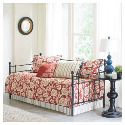 """Red Rose Daybed Set (75x39"""") 6pc"""