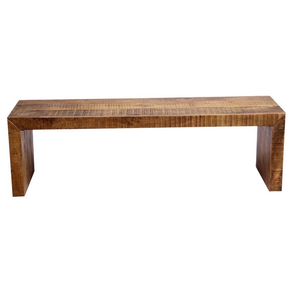 Solid Mango Wood 5' Bench - Timbergirl, Brown