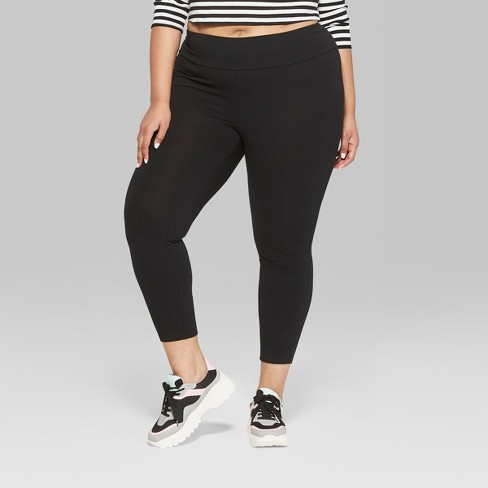 184b0170257ba Women's Plus Size High-Waist Leggings - Wild Fable™ Black : Target