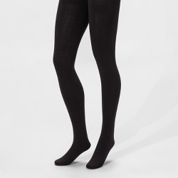 Women's Fleece Lined Tights - A New Day™ Black