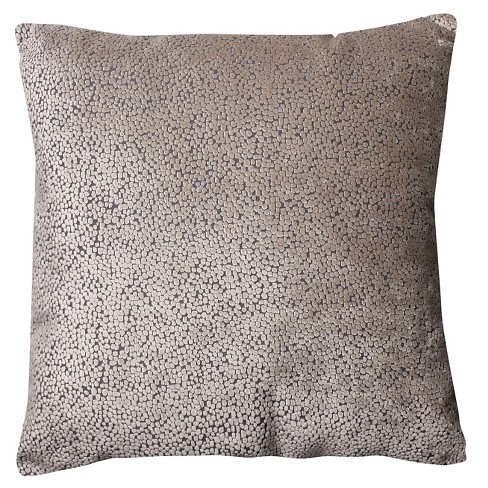 Tan Tuscany Dots Reversible Flax Floor Throw Pillow - Pillow Perfect - image 1 of 1