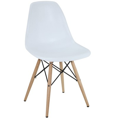 Pyramid Dining Side Chair White - Modway