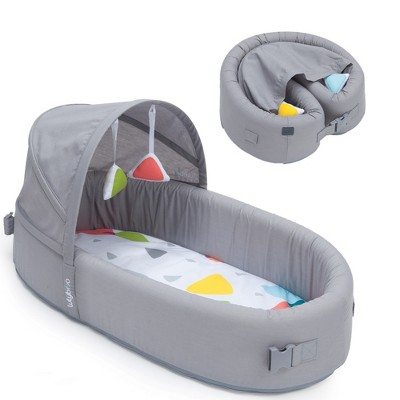 Lulyboo Portable Baby Bassinet To-Go Infant Travel Bed - Gray