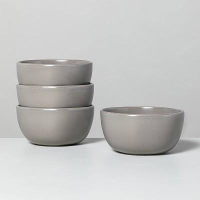 4pk Stoneware Cereal Bowl Set Matte Gray - Hearth & Hand™ with Magnolia