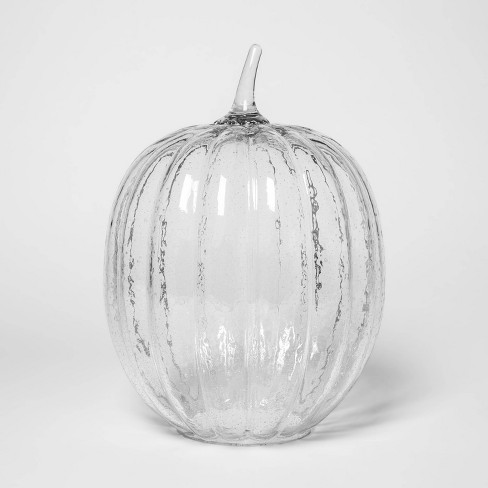 """13.7"""" x 10"""" Bubble Glass Pumpkin Clear - Threshold™ - image 1 of 1"""