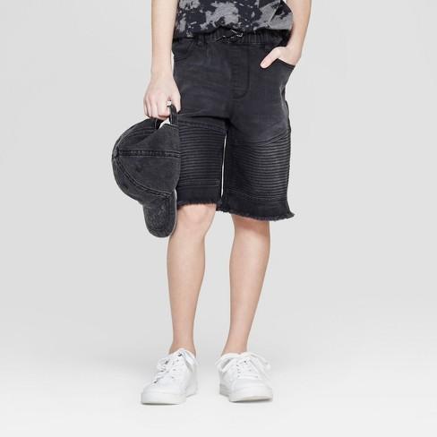 452937f4ad04 Boys' Distressed Jean Shorts - Art Class™ Black : Target