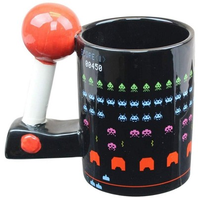 Just Funky Space Invaders 3D Arcade Molded 16oz Coffee Mug