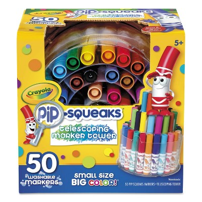 Crayola Pip-Squeaks Telescoping Marker Tower Assorted Colors 50/Set 588750