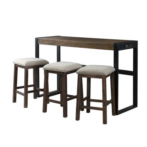 Enrico Multipurpose Bar Table Set Brown - Picket House Furnishings - image 1 of 4