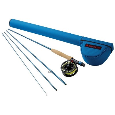 Redington 690-4 CROSSWATER 6 Line Weight 9 Foot 4 Piece Lightweight Medium Fast Action Graphite Fly Fishing Rod and Reel Combo with Storage Carry Case