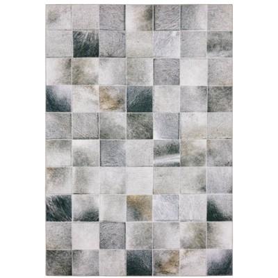 Marcel Geometric Hexagon Animal Print Area Rug Gray/Charcoal - Captiv8e Designs