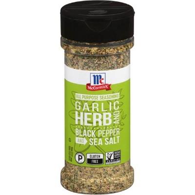 McCormick Cracked Black Pepper, Garlic, Herb, Sea Salt All Purpose Seasoning - 4.37oz