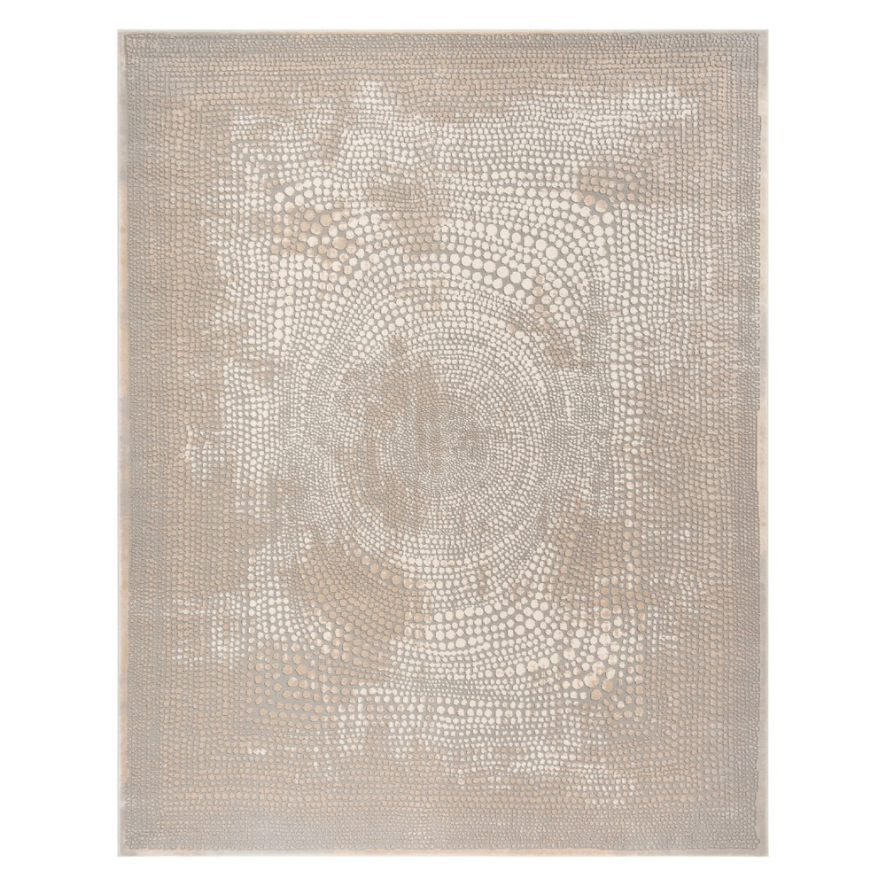 8'X10' Pebble Area Rug Ivory/Gray - Safavieh, White