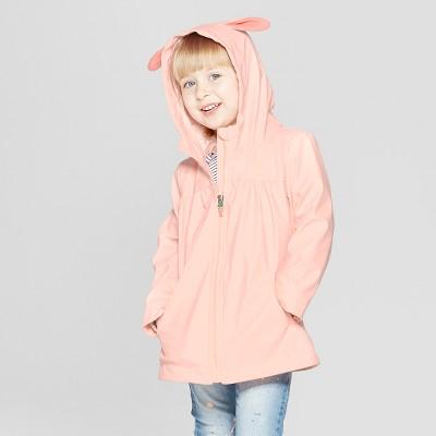 Toddler Girls' Bunny Rain Jacket - Cat & Jack™ Pink 18M