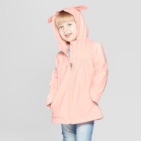 6dffd0e47725 Toddler Girls  Bunny Rain Jacket - Cat   Jack™ Pink   Target