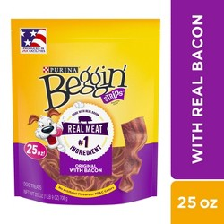 Purina Beggin' Strips  Dog Training Treats Original With Bacon - 25oz Pouch