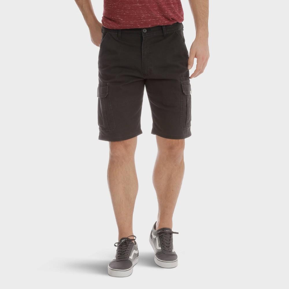 Best Buy Wrangler Men 10 Cargo Twill Shorts Black 30