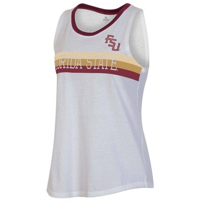 NCAA Florida State Seminoles Women's White Tank Top