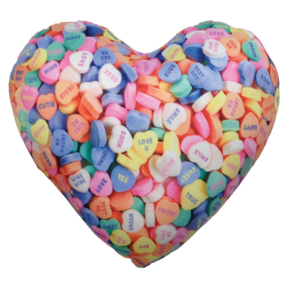 Image of Conversation Hearts Microbead Pillow