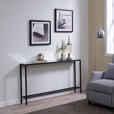 Dillard Narrow Long Console Table Gray - Aiden Lane