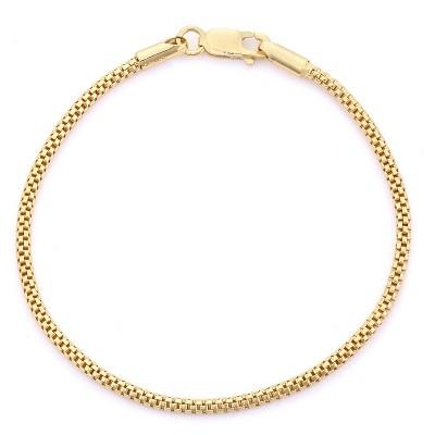 Tiara Popcorn Link Bracelet in Gold Over Silver
