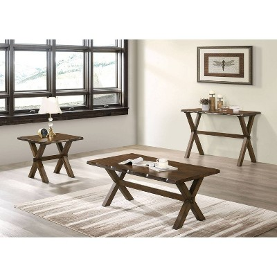 Coupla Cross X Leg End Table Walnut Homes Inside Out Target