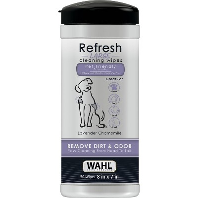 Wahl Pet Wipes Refresh Large Lavender 50 ct