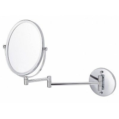"16.95"" Oval Wall Mount Magnifying Mirror Chrome - American Imaginations"