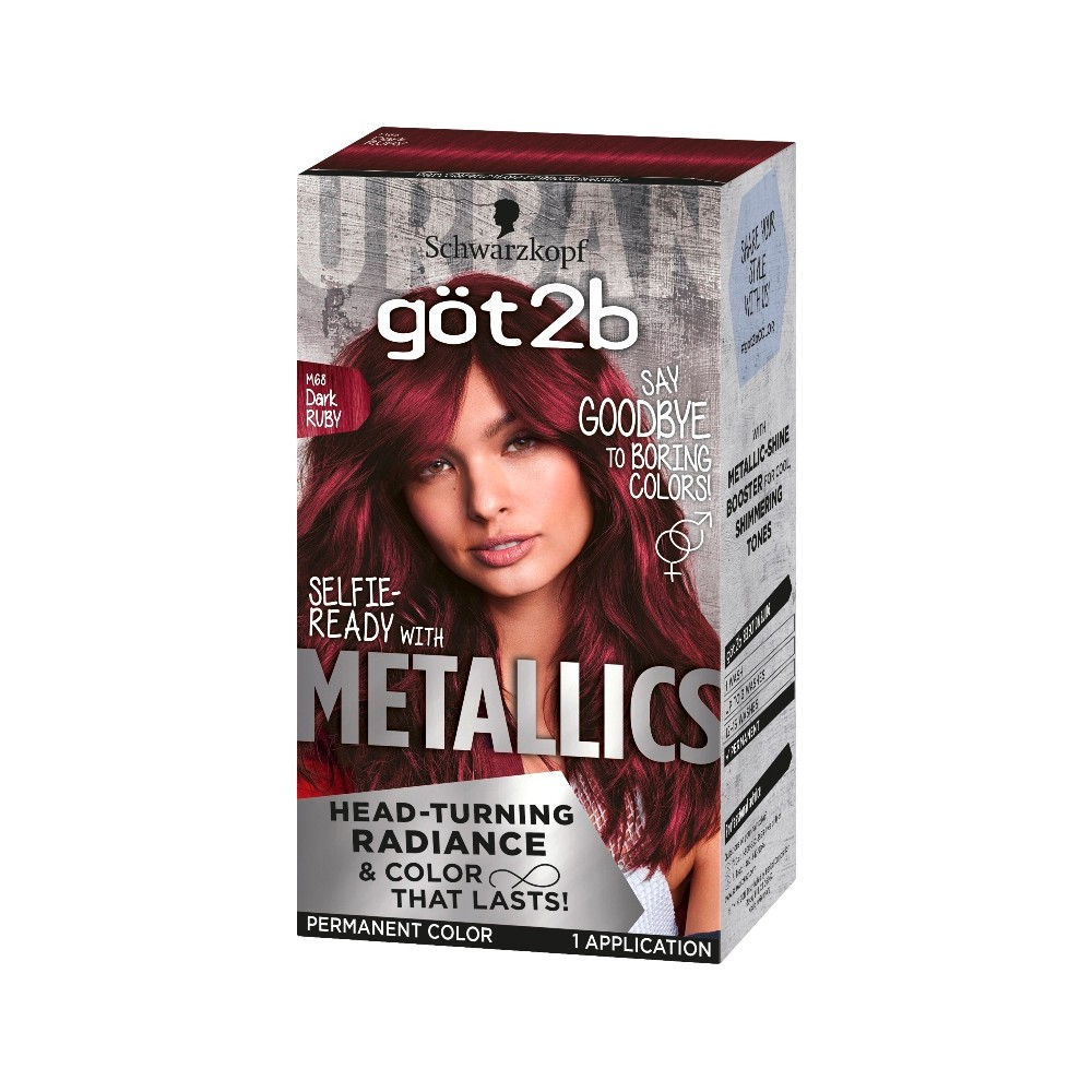 Got2b Color Metallic Dark Ruby - 1 kit
