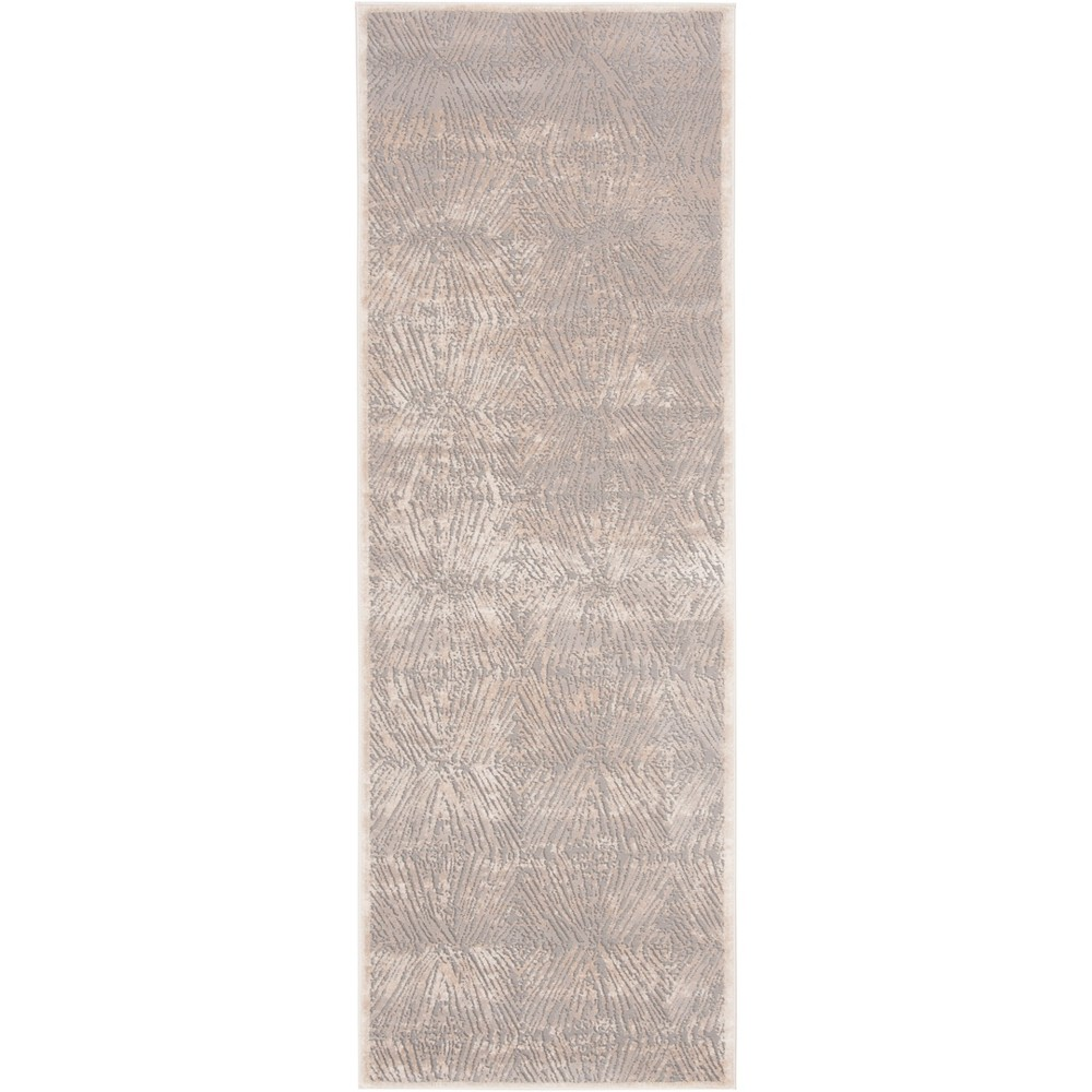 27X8 Geometric Loomed Accent Rug Ivory/Gray - Safavieh Compare