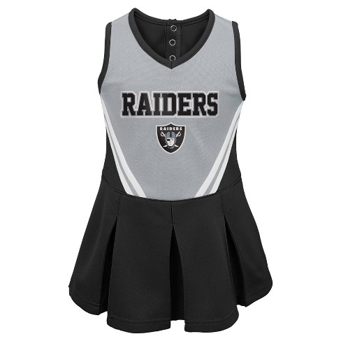 more photos c1da0 c0bd1 NFL Oakland Raiders Toddler Girls' In the Spirit Cheer Set - 12M