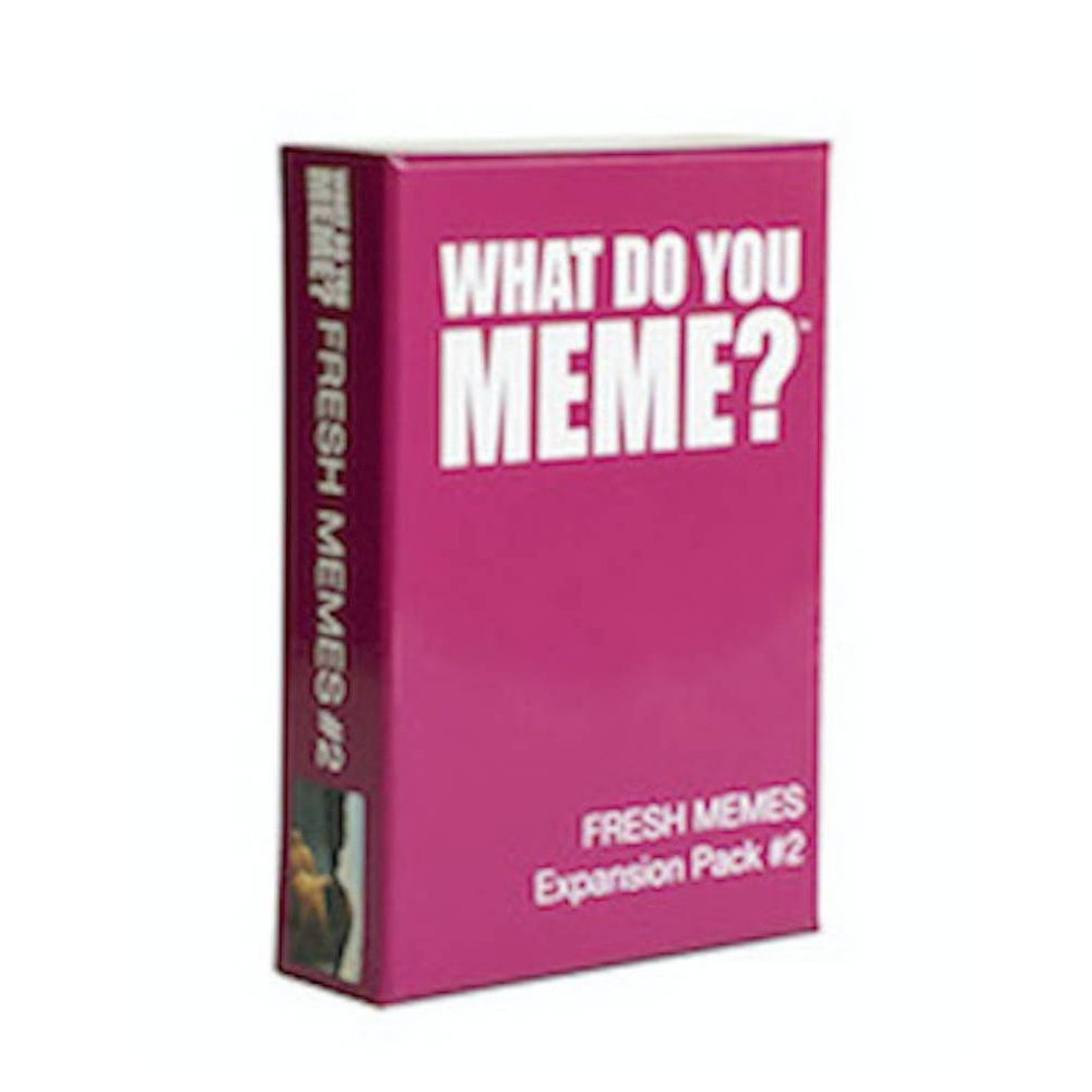 What Do You Meme? Fresh Memes Game Expansion Pack #2 Treat yourself to even more memes! Our second core expansion pack. Contains 115 Cards (90 caption cards and 25 photo cards) to be added to core game. Isn't it about time you did something nice for yourself? *Requires What Do You Meme? core game to play Gender: Unisex.